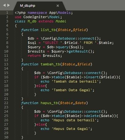 Isi Dari File models M_db